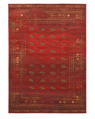 "Classic Bokhara Transitional Rug, Dark Red, 5' 5"" x 7' 9"""
