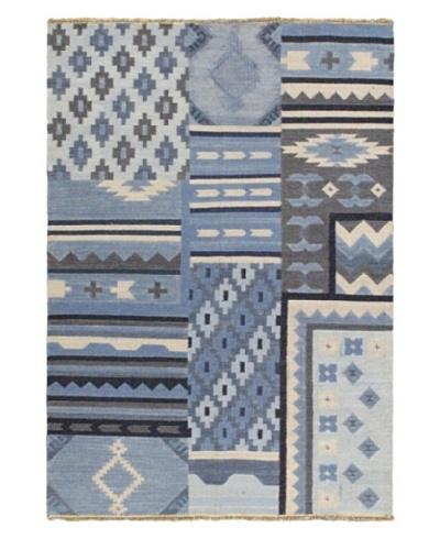 Ankara Kilim Casual Kilim, Light Blue, 5' 3 x 7' 6
