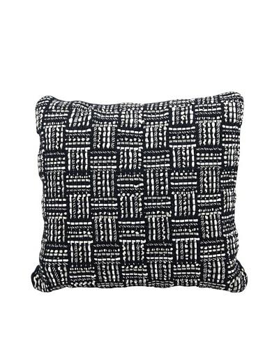 "Joseph Abboud Ribbing Jacquard Pillow, Black, 20"" x 20"""