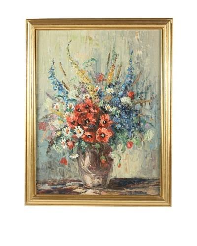 G.W. Wells Floral Framed Artwork