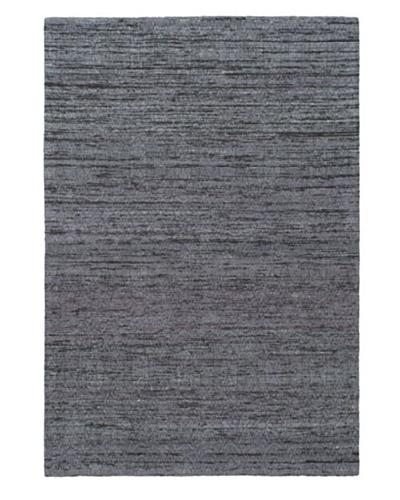 Handwoven Fab Dhurrie, Dark Grey/Grey, 4' 5 x 6' 7
