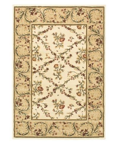 Oriental Garden Rug, Beige/Pink, 3' 11 x 5' 7