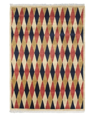 Hand-Knotted Aurora Rug, Light Yellow, 5' 5 x7' 7