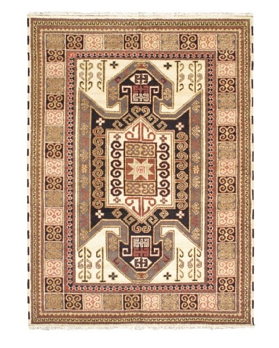 Hand-Knotted Royal Kazak Rug, Cream/Khaki, 5' 6 x 7' 9