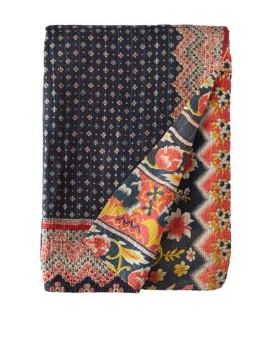 Large Vintage Lalima Kantha Throw, Multi, 60 x 90