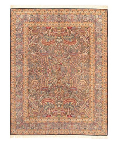 Hand-Knotted Sino Persian Wool Rug, Navy, 9' 1 x 12'