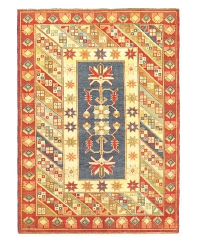 Hand-Knotted Royal Kazak Wool Rug, Dark Copper/Light Yellow, 5' 9 x 7' 11