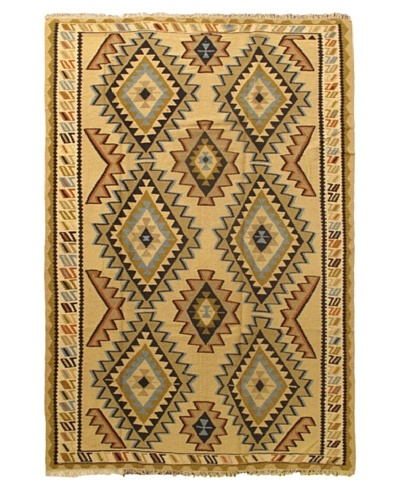 Ankara Kilim Tribal Kilim, Light Yellow, 6' 2 x 9' 2