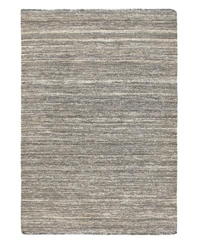 Hand Woven Silky Allure Modern Flatweave Kilim, Grey, 4' 7 x 6' 8