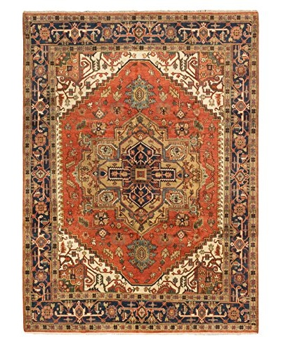 Hand-Knotted Serapi Heritage Wool Rug, Copper, 8' 11 x 12'