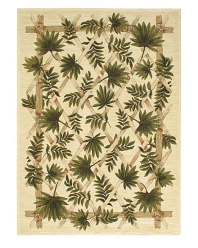 Oriental Garden Rug, Beige, 7' 10 x 11'