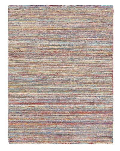 Hand Woven Silky Allure Modern Flatweave Kilim, Light Yellow, 4' 11 x 6' 7