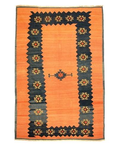 Kilim Rug, Orange/Blue,