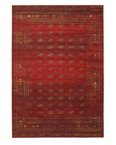 Wash Transitional Rug, Dark Red, 6' 7 x 9' 6