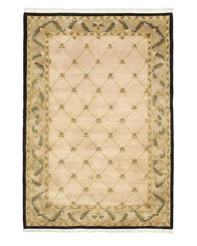 Hand-Knotted Karma Wool Rug, Ivory, 5' 9 x 8' 4