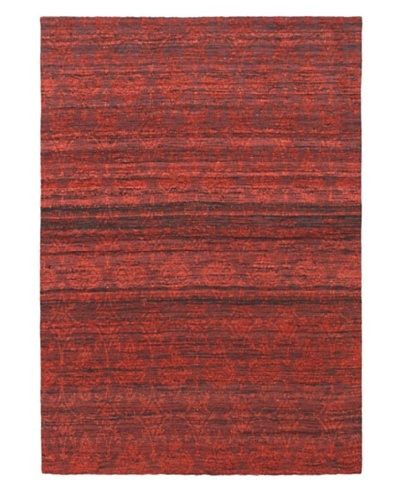Handwoven Fab Dhurrie, Red, 4' 6 x 6' 6