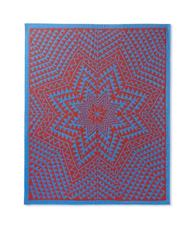 Star Throw, Red/Blue