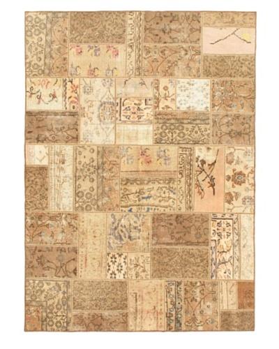 "Handmade Ottoman Yama Patchwork Wool Rug, Beige, 5' 6"" x 7' 10"""