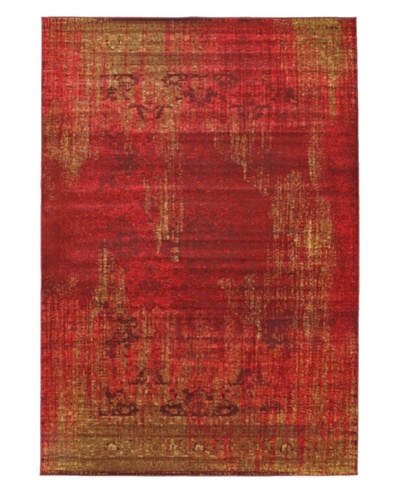 Wash Area Rug, Red, 6' 7 x 9' 6