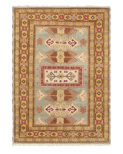 "Hand-Knotted Royal Kazak Wool Rug, Gray, 5' 9"" x 8'"