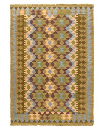 Izmir Kilim Traditional Kilim, Brown, 4' 7 x 6' 7