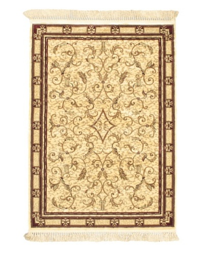 Persian Traditional Rug, Beige, 4' x 5' 7""