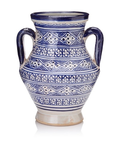 Hand-Painted Ceramic Jar with Handles [Multi]