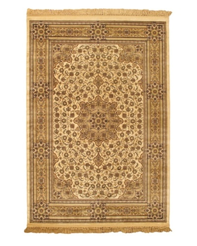 Mashad Kashmir Rug, Beige, 5' 2 x 7' 7
