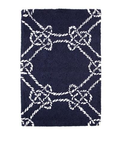 Maritime Rug, Navy/White, 2' x 3'