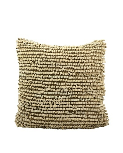 Joseph Abboud Full Loop Pillow, Beige, 20 x 20