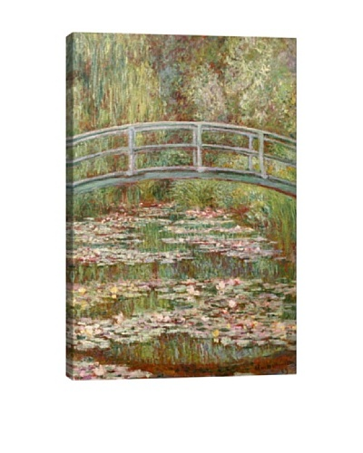 Claude Monet's Bridge Over a Pond of Water Lilies (1899) Giclée Canvas Print