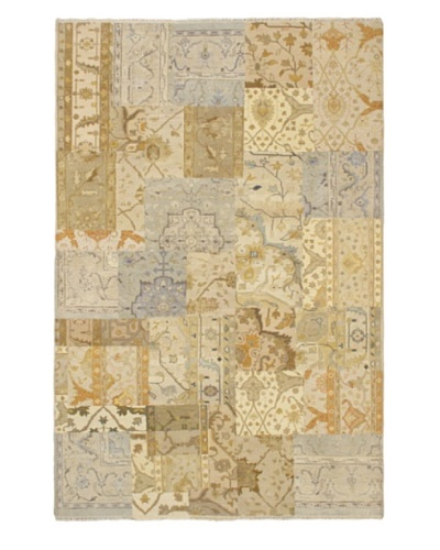 Hand-Knotted Antiqua Casual Rug, Cream, 6' 2 x 9' 4