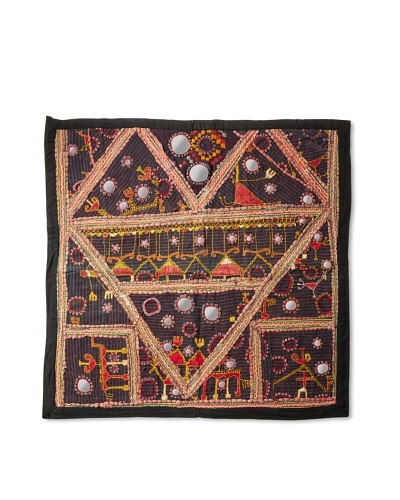 Sari Throw, Black/Gold