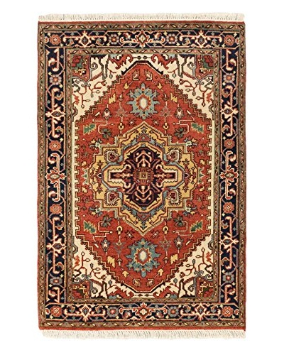 Hand-Knotted Serapi Heritage Wool Rug, Dark Copper, 4' 1 x 6'