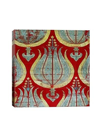 Lampas Textile with Tulips Lamella Turkey Giclée Canvas Print