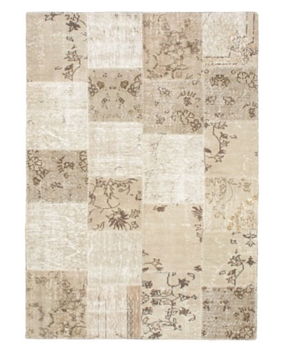 Handmade Ottoman Yama Patchwork Wool Rug, Khaki, 5' 7 x 7' 11
