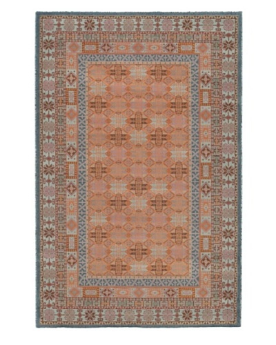 Royale Traditional Wool Rug, Blue/Copper, 4' 11 x 7' 7