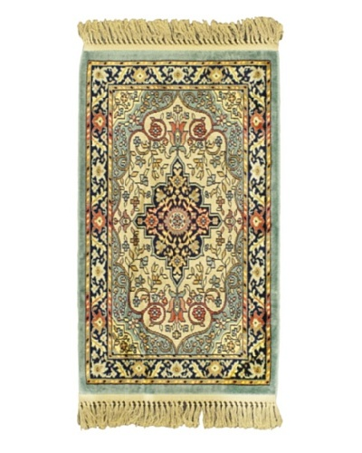 Persian Rug, Green, 2' x 3' 3
