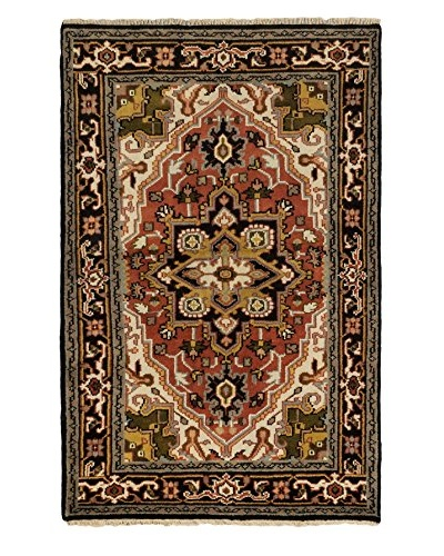 Hand-Knotted Royal Heriz Wool Rug, Copper, 3' 11 x 6' 2