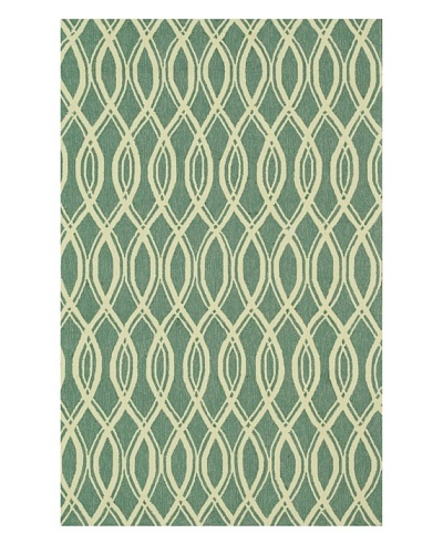 Venice Beach Indoor/Outdoor Rug [Turquoise/Ivory]