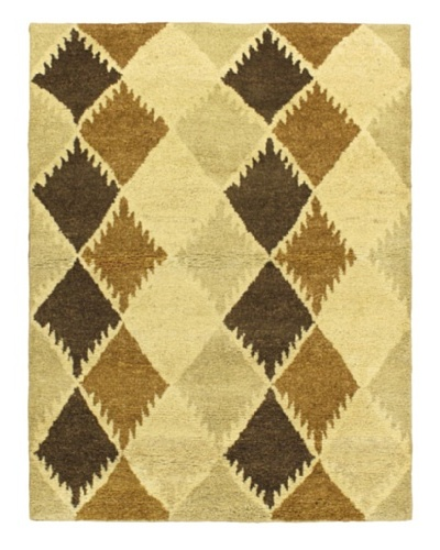 Hand-Knotted Marrakech Rug, Cream, 4' 7 x 6' 7