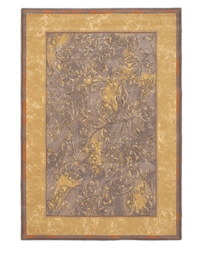 Royale Wool Rug, Light Brown/Light Violet-Blue, 5' 3 x 7' 6