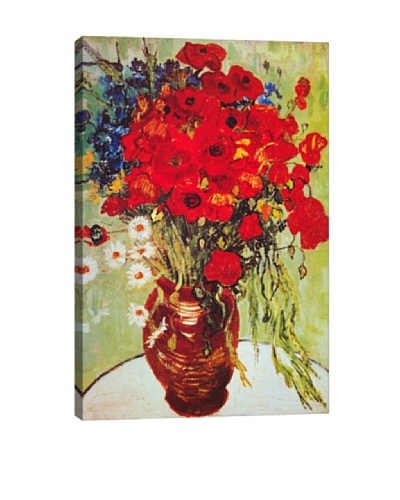 Vincent Van Gogh's Vase with Daisies and Poppies Giclée Canvas Print
