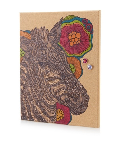 Valentina Ramos Zebra in Flower Giclee on Cork Board