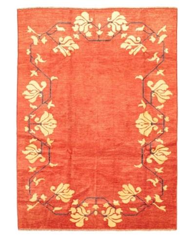 Hand-Knotted Gabbeh Modern Rug, Dark Copper, 6' 6 x 9' 1