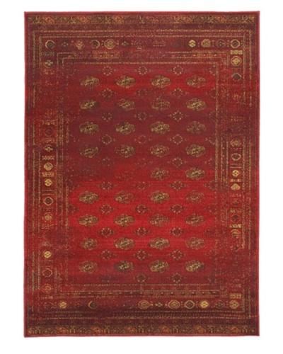 Wash Transitional Rug, Dark Red, 4' 7 x 6' 5