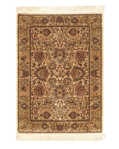 Persian Traditional Rug, Beige, 3' 3 x 4' 7