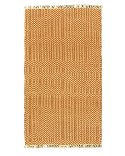 Hand Woven Natural Plush Kilim, Red, 2' x 3' 6 Runner