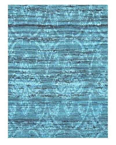 Fab Dhurrie Modern Dhurrie, Turquoise, 4' 6 x 6' 6