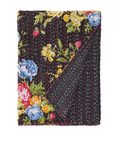 Printed Kantha, Black, 60 x 90